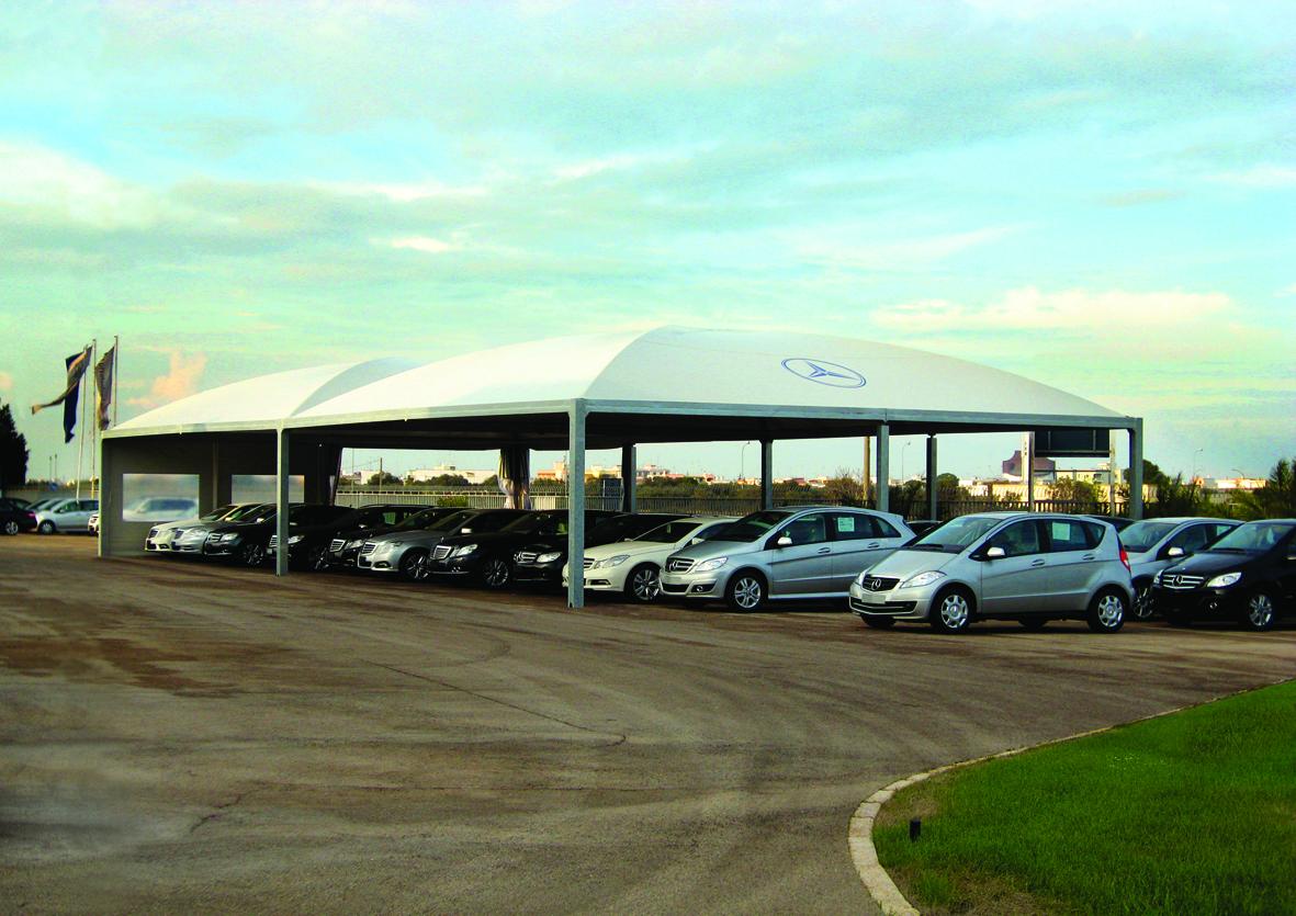 gazebo per auto personalizzabili su misura concessionaria autolavaggio