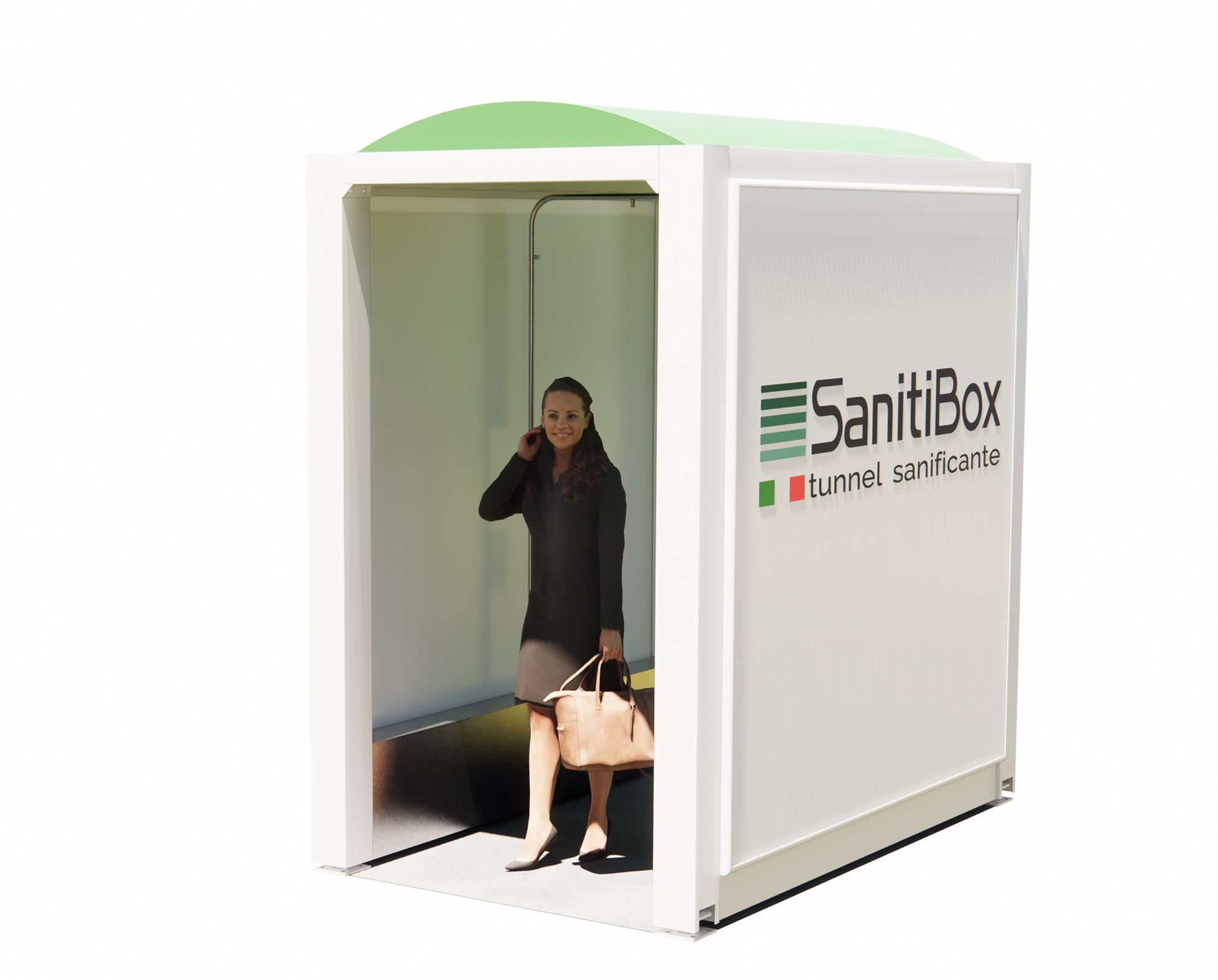 sanitibox tunnel sanificazione istantanea persone e merci