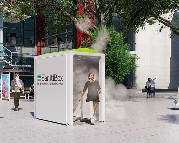 SanitiBox sanificazione persone e merci
