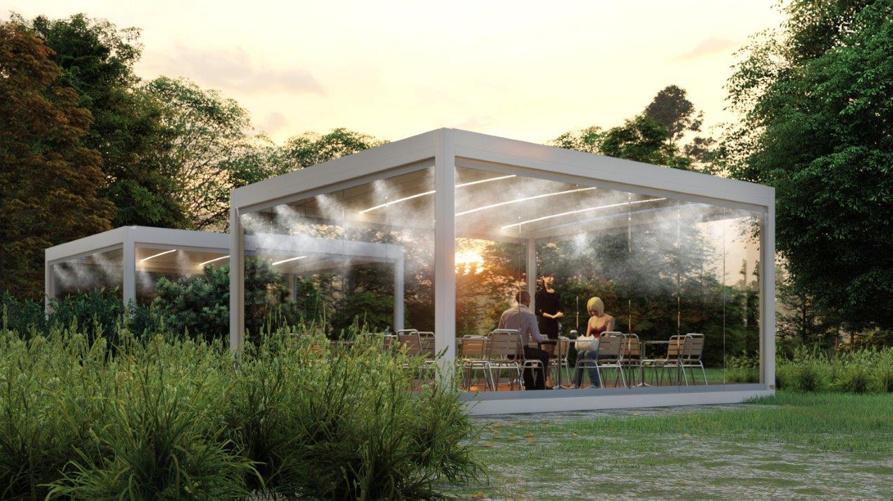 freesh outdoor system sprech sistema di nebulizzazione pergole gazebo